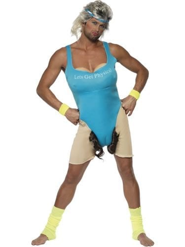Let's get Physical Work Out Adult Fancy Dress Costume