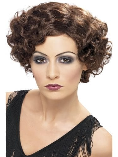 1920's Brown Flirty Flapper Wig