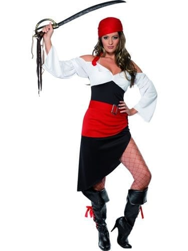 Sassy Pirate Wench Ladies Fancy Dress Costume