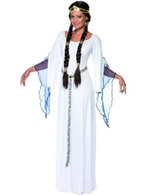Tales of Old England Medieval Maid Ladies Fancy Dress Costume
