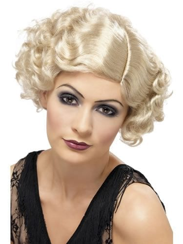 1920's Blonde Flirty Flapper Wig