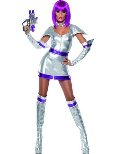 Fever Collection Space Cadet Ladies Fancy Dress Costume