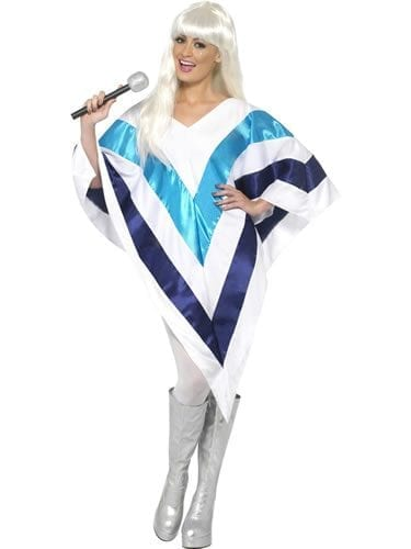 Super Trooper Cape/Poncho Ladies Fancy Dress Costume
