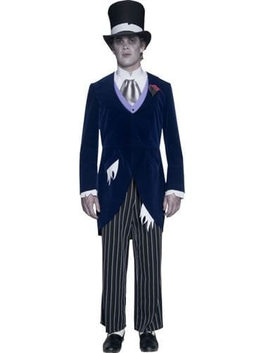 Gothic Manor Groom Mens Halloween Fancy Dress Costume
