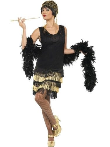 1920's Fringed Flapper Ladies Fancy Dress Costume