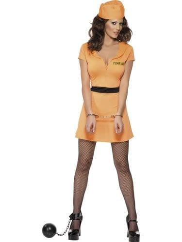 Convict Babe Ladies Fancy Dress Costume