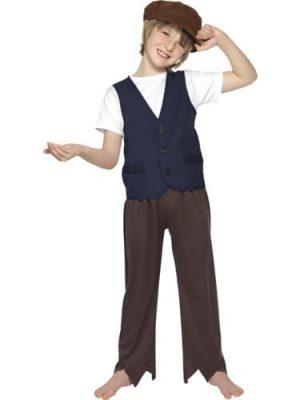 Victorian Poor Peasant Boy Childrens Fancy Dress Costume