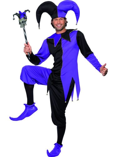 Tales of Old England Medieval Jester Mens Fancy Dress Costume