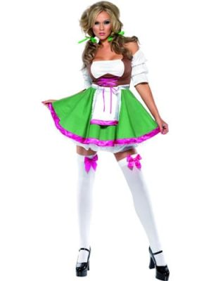Fever Collection Flrty Frauline Ladies Fancy Dress Costume