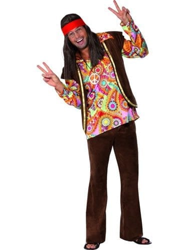 1960's Psychadelic Hippy Men's Fancy Dress Costume