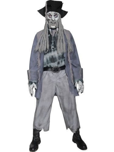 Zombie Ghost Pirate Mens Halloween Fancy Dress Costume