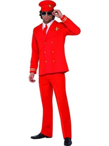 High Flyer Mens Fancy Dress Costume