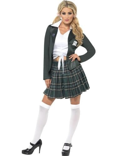 Preppy Schoolgirl Ladies Fancy Dress Costume
