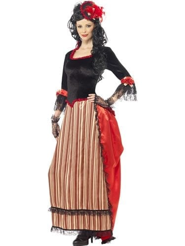 Authentic Western Town Sweetheart Ladies Fancy Dress Costume