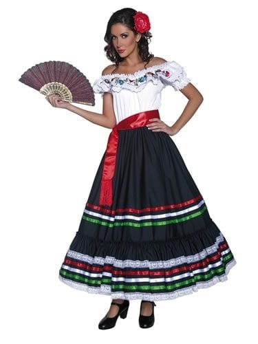 Authentic Western Sexy Senorita Ladies Fancy Dress Costume