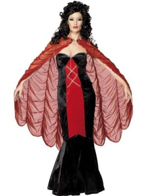 Gothic Manor Red/Gold Cape (DISC)