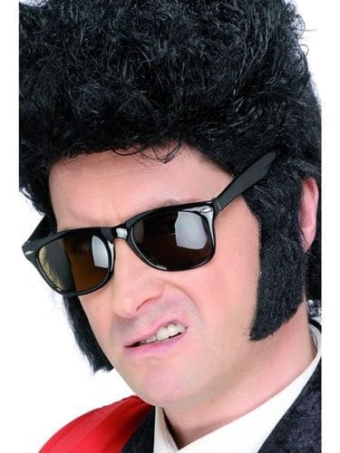 Teddy Boy Sideburns Black