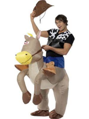 Inflatable Ride Em Cowboy Fancy Dress Costume
