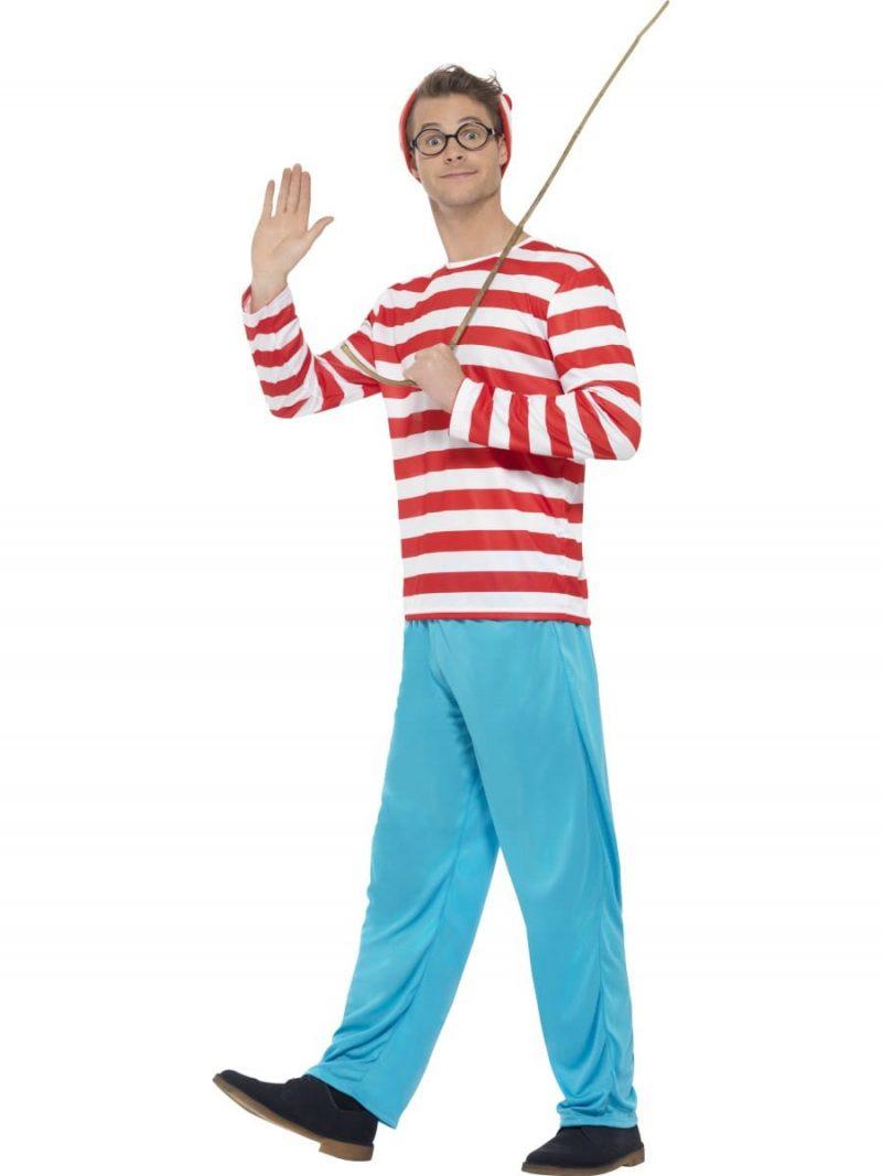 Where's Wally? Mens Fancy Dress Costume