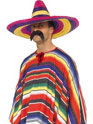 Multi Coloured Large Sombrero