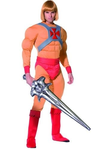 Masters of the Universe He-Man/Prince Adam Mens Fancy Dress Costume