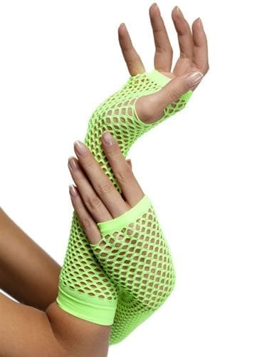 Fishnet Gloves Neon Green