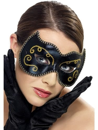 Persian Black/Gold Eyemask