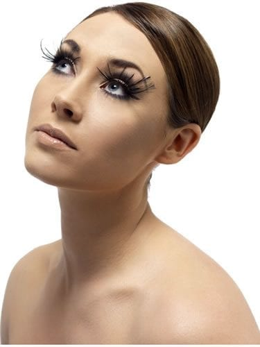 Fever Collection Black Feather with Large Plumed Eyelashes