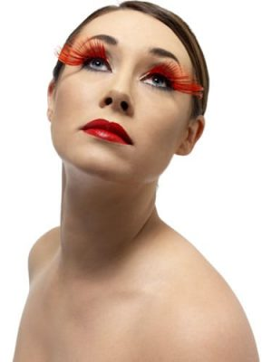Fever Collection Red with 5 Diamantes Eyelashes