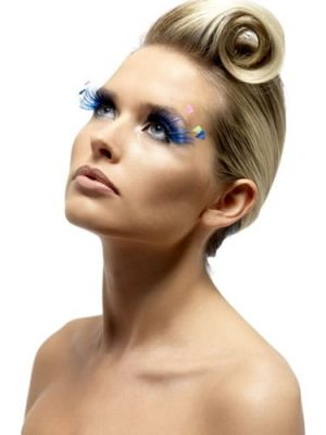Fever Collection Blue with Assorted Colour Plumed Eyelashes
