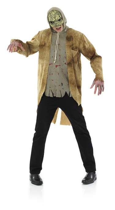 Street Zombie Men's Halloween Fancy Dress Costume