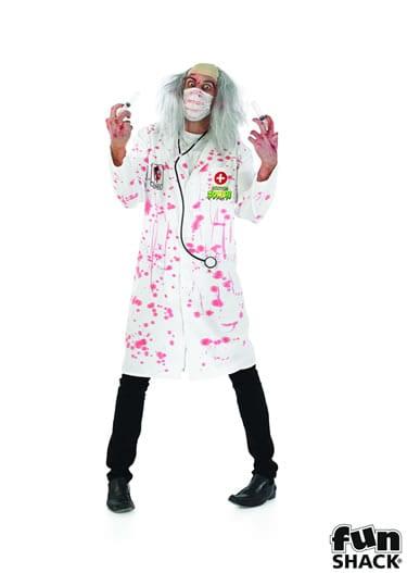 Zombie Doctor Men's Halloween Fancy Dress Costume