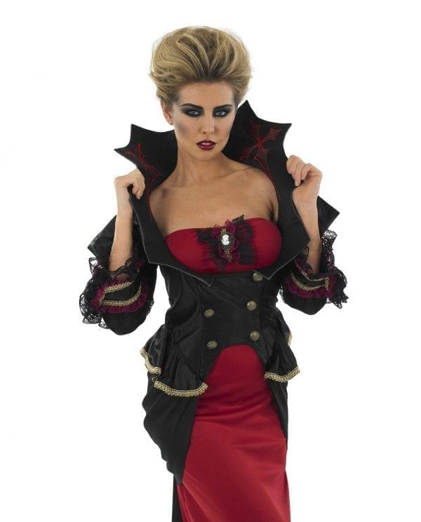 Vampiress Ladies Halloween Fancy Dress Costume