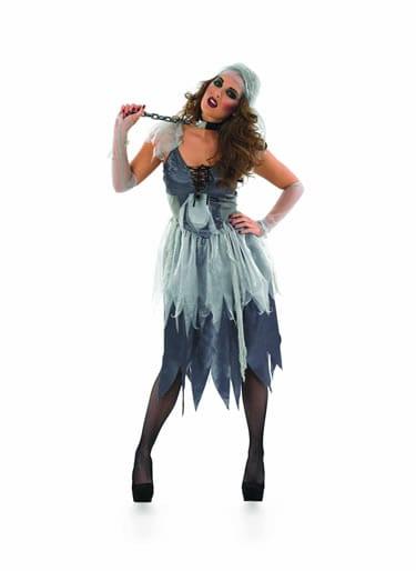 Zombie Pirate Wench Ladies Halloween Fancy Dress Costume