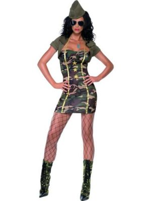 Fever Collection Major Trouble Ladies Fancy Dress Costume