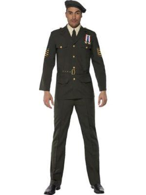Wartime Officer Mens Fancy Dress Costume