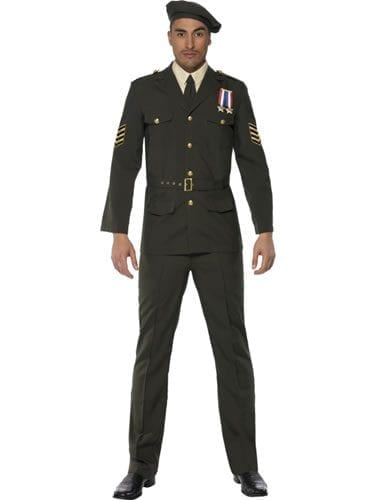 Wartime Officer Mens Fancy Dress Costume