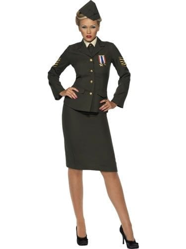 Wartime Officer Ladies Fancy Dress Costume