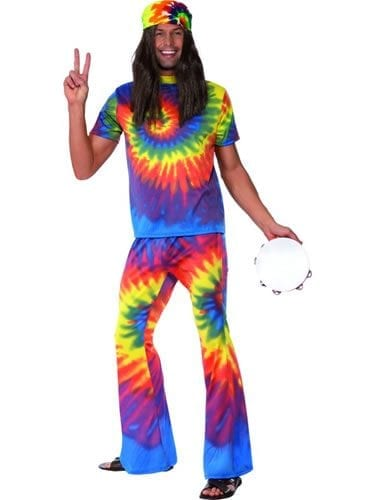1960's Tie Dye Men's Fancy Dress Costume