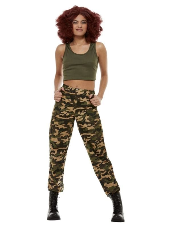 Khaki Camo Ladies Fancy Dress Costume