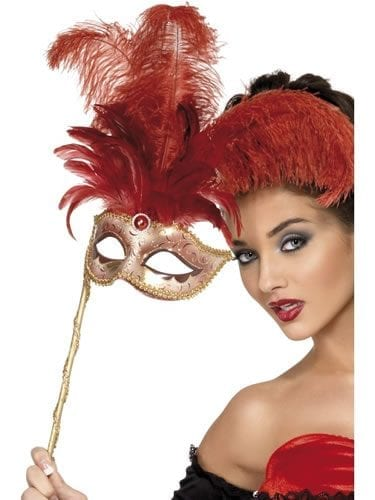 Fever Boutique Red Baroque Fantasy Mask