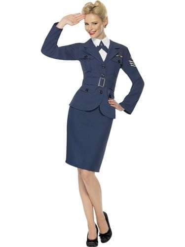 WW2 Air Force Captain Ladies Fancy Dress Costume