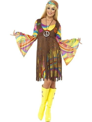 1960's Groovy Lady Ladies Fancy Dress Costume