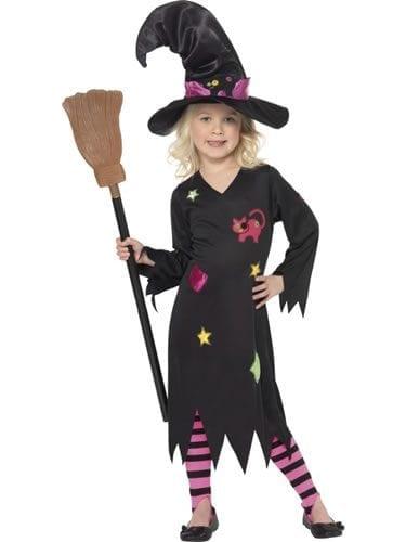 Cinder Witch Girls Halloween Fancy Dress Costume