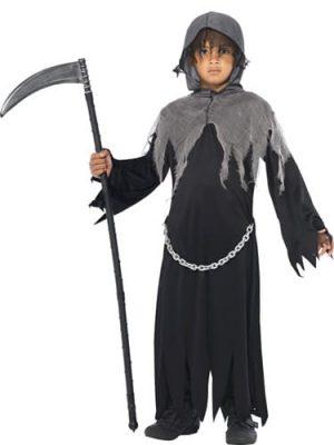 Grim Reaper Children's Halloween Fancy Dress Costume