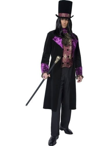 Gothic Manor The Gothic Count Mens Halloween Fancy Dress Costume
