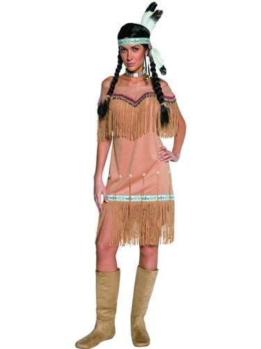 Authentic Western Indian Lady Ladies Fancy Dress Costume