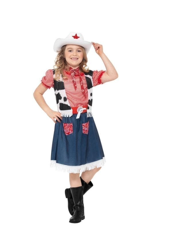 Cowgirl Sweetie Girls Fancy Dress Costume