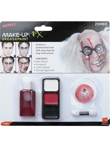 Zombie Make Up Set with Eyeball