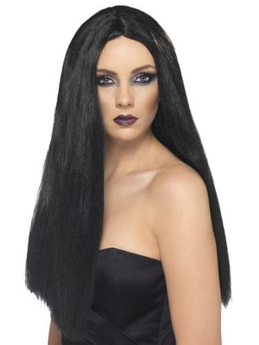 "24"" Black Witch Wig"